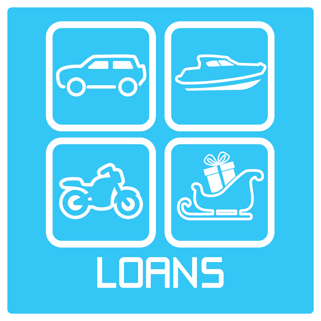 Icon and Text: Loans