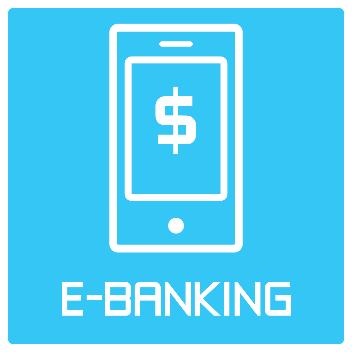 Icon and Text: e-Banking